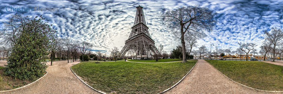 Eiffel Tower Paris - Quai Branly - Allée Jean Paulhan - Creative 360 VR Spherical Panoramic Photography - Emblematic Paris by © Christian Kleiman