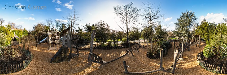 Forest Adventures at Le Jardin d'Acclimatation - Bois de Boulogne - Creative 360 VR Pano Photo - Emblematic places in Paris, France by © Christian Kleiman