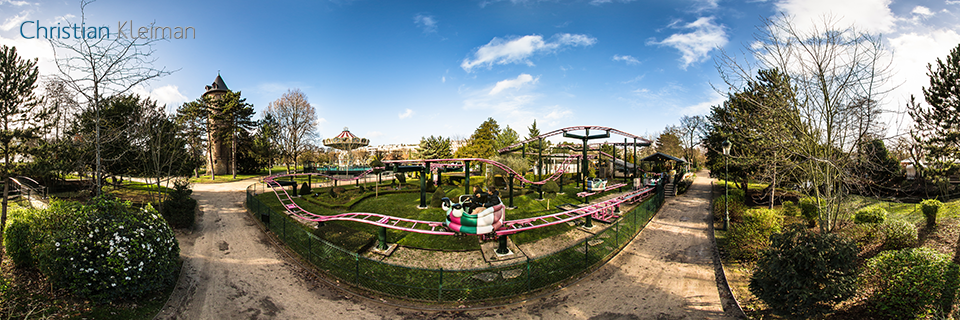 Le Manège des Papillons at Le Jardin d'Acclimatation - Bois de Boulogne - Creative 360 VR Photo - Emblematic places in Paris, France by © Christian Kleiman