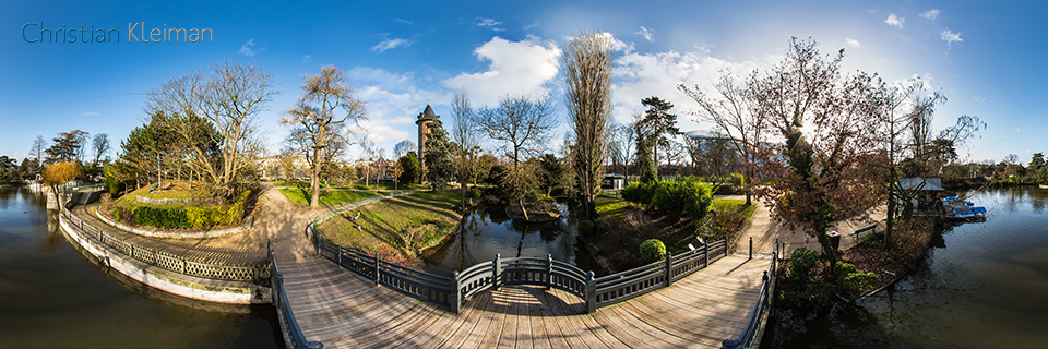 Lake at Le Jardin d'Acclimatation - Bois de Boulogne - Creative 360 VR Photo - Emblematic places in Paris, France by © Christian Kleiman