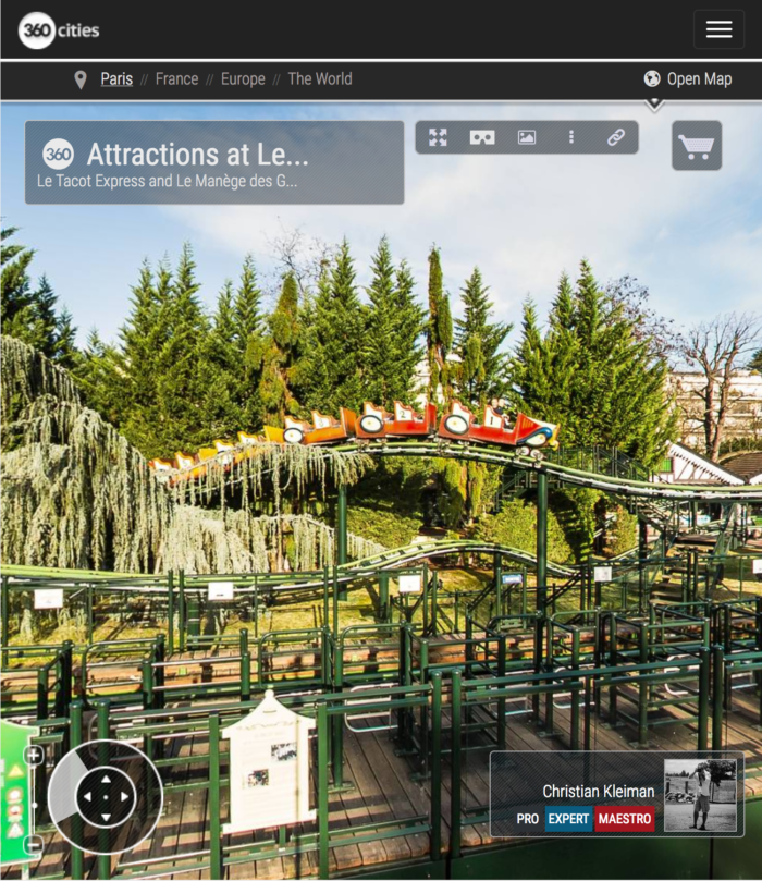 Attractions at Le Jardin d'Acclimatation - Bois de Boulogne - Creative 360 VR Panoramic Photo - Emblematic places in Paris, France by © Christian Kleiman