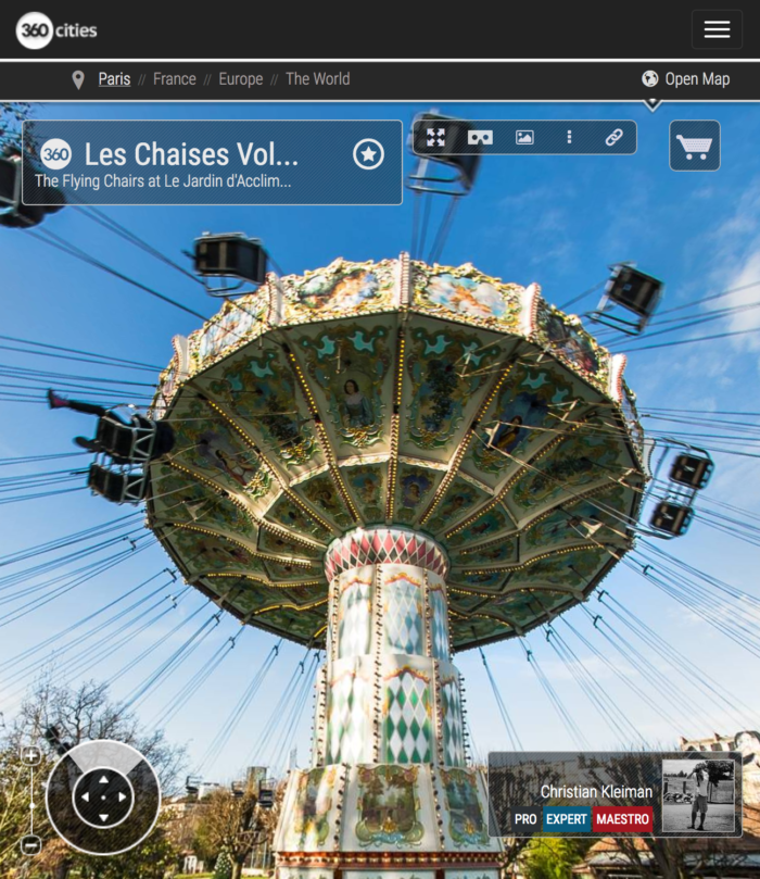 Les Chaises Volantes - Le Jardin d'Acclimatation - Bois de Boulogne - Creative 360 VR Pano Photo - Emblematic places in Paris, France by © Christian Kleiman
