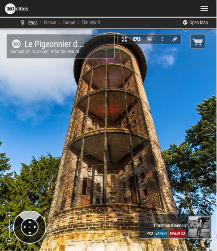 Le Pigeonnier de Gambetta at Le Jardin d'Acclimatation - Bois de Boulogne - 360 VR Photo - Emblematic places in Paris, France by © Christian Kleiman