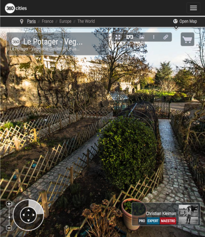 Le Potager, Vegetable Garden - Le Jardin d'Acclimatation - Bois de Boulogne - Creative 360 VR Photo - Emblematic places Paris, France by © Christian Kleiman