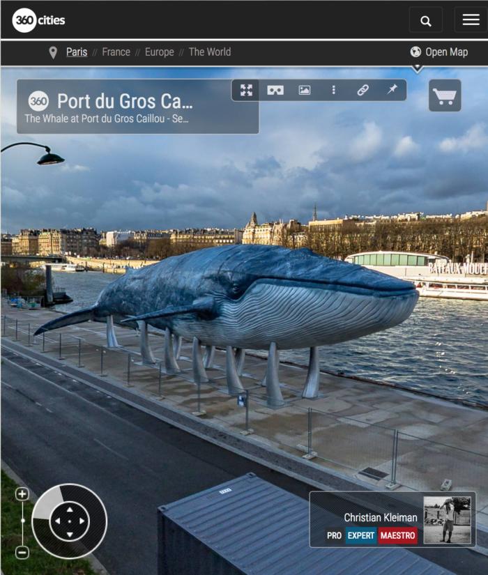 360 VR Photo at Port du Gros Caillou - Seine River, Paris