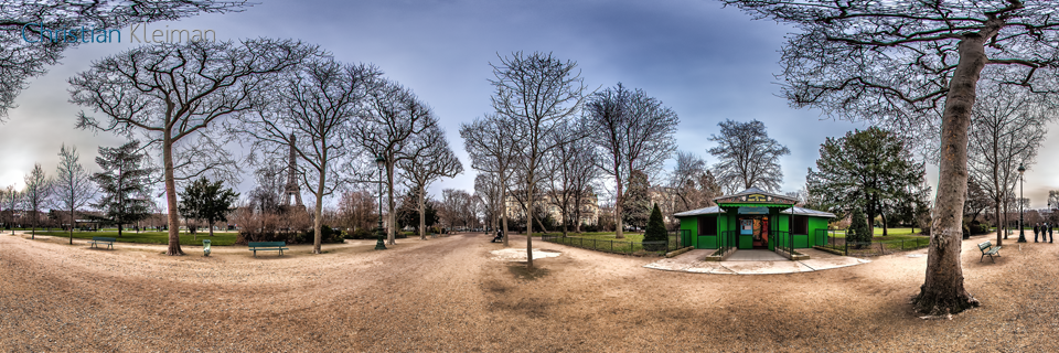 Entrance to Puppets Theatre - Winter at Champ de Mars Garden - Creative 360 Spherical Panoramic Photography from places in Paris by © Christian Kleiman