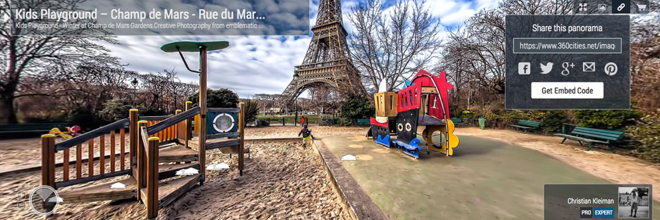Photo Guide with Creative 360º Spherical Panoramic Photography of the City of Paris, France by © Christian Kleiman