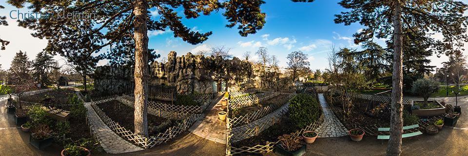 Le Potager, Vegetable Garden - Le Jardin d'Acclimatation - Bois de Boulogne - Creative 360 VR Photo - Emblematic places Paris, France by © Christian Kleiman