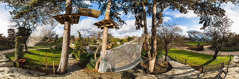 The Zip-Line - La Tyrolienne at Le Jardin d'Acclimatation - Bois de Boulogne - 360 VR Photo - Emblematic places in Paris, France by © Christian Kleiman