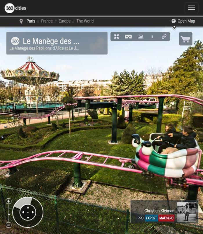 Le Manège des Papillons at Le Jardin d'Acclimatation - Bois de Boulogne - Creative 360 VR Photo - Emblematic places in Paris, France by © Christian Kleiman