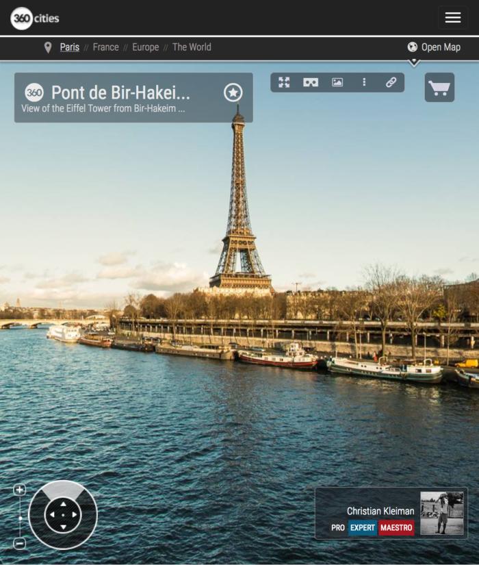 Bir-Hakeim Bridge - La France Renaissante Monument - Seine River - Creative 360 VR Pano Photo - Emblematic places in Paris, France by © Christian Kleiman